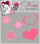 PNG Flowers and hearts 1