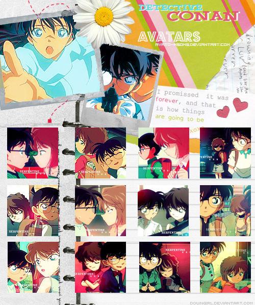 Avatars Conan and Haibara by Ayato-msoms
