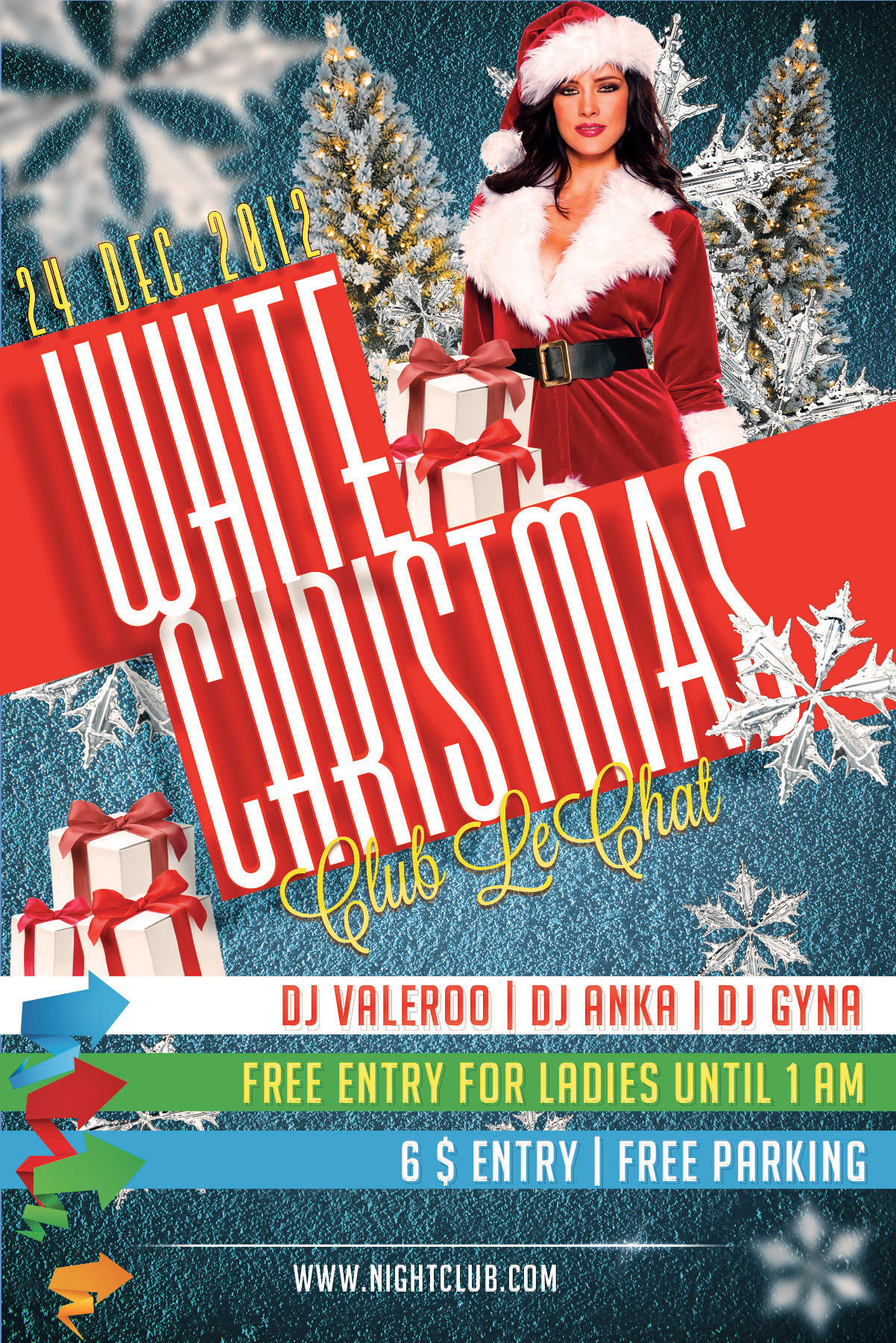 free christmas party flyers
