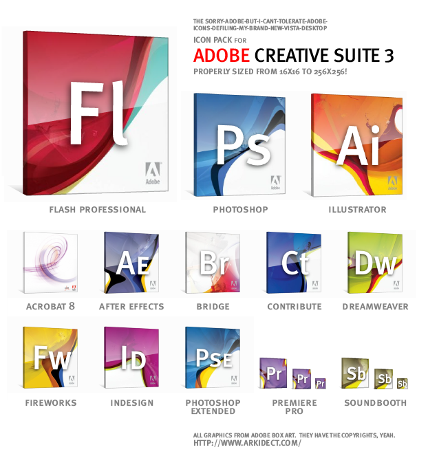 Adobe Creative Suite 3 CS3 Set by 037