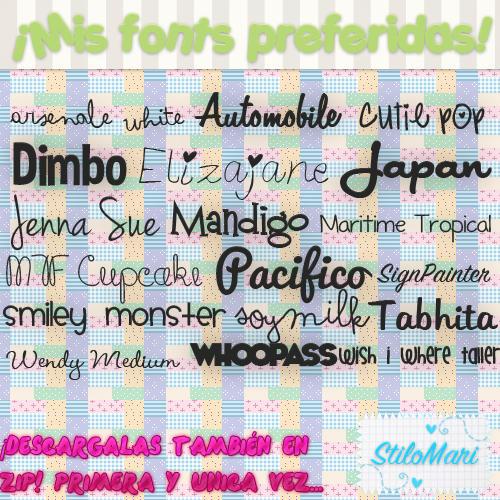 Pack de Mis Fonts Preferidas(Pedido)ZIP.By:StiMari by StiloMari