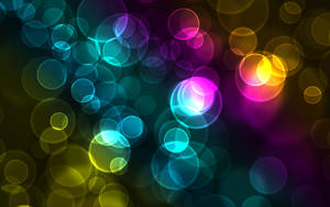 Colourful Bokeh Wallpaper by NumberThreeDesign