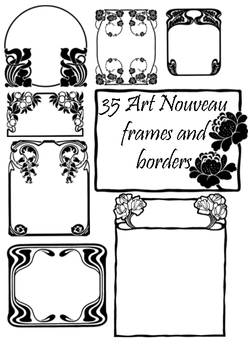 35 Art Nouveau Frame Brushes