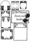 35 Art Nouveau Frame Brushes