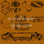 10 Scroll Banner brushes