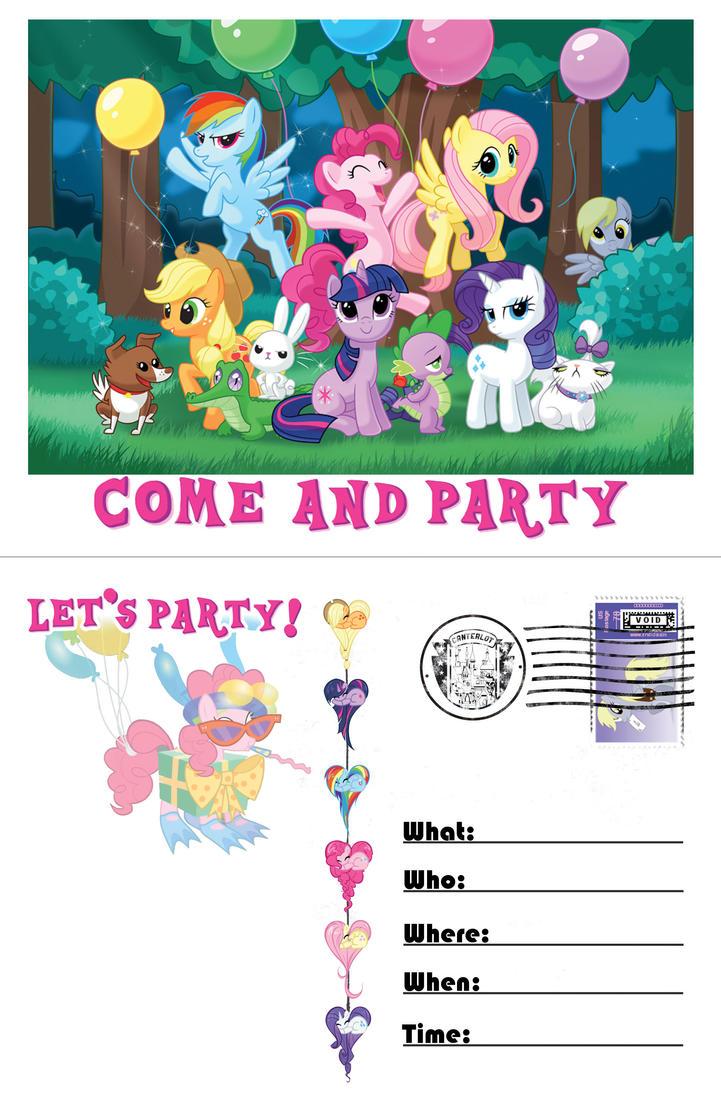 My Little Pony Birthday Invites is amazing invitations ideas
