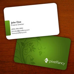 Floral Business Card PSDs