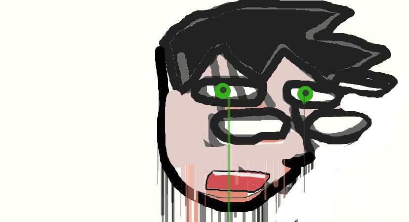 The drawing of Mr Despair by safirediaz