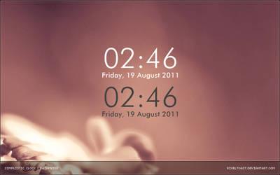 Simplistic Clock by pixeltoast