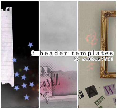 3 header templates by nathan7321