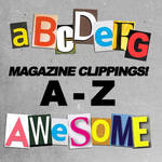 A-Z Magazine Letter Clippings