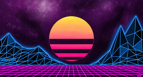 80s Synthwave Background Attempt