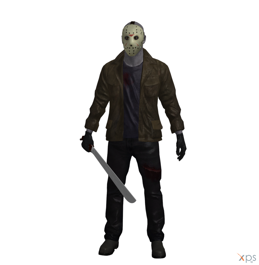 how to draw jason voorhees full body