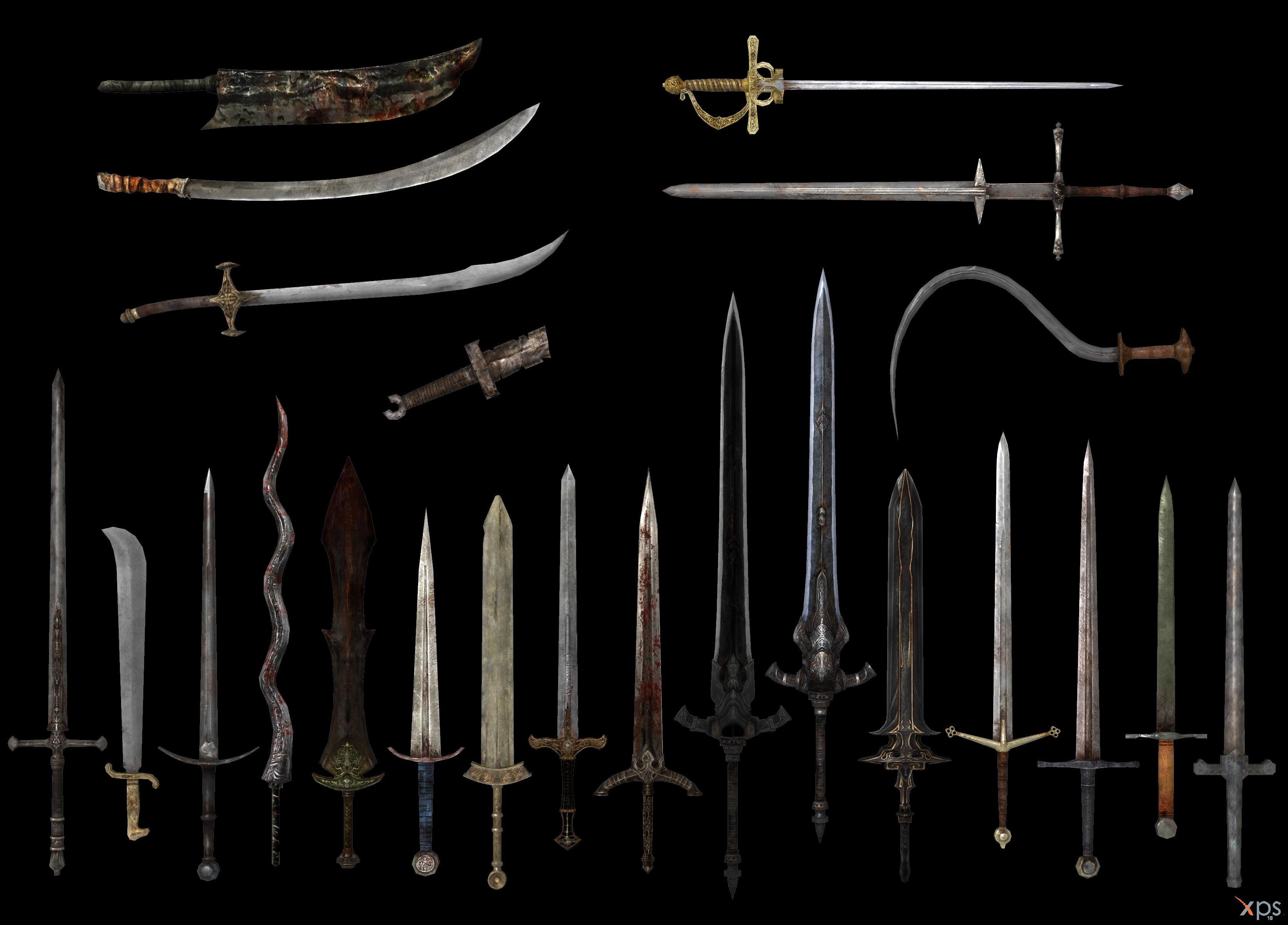 Dark Souls swords by Bringess