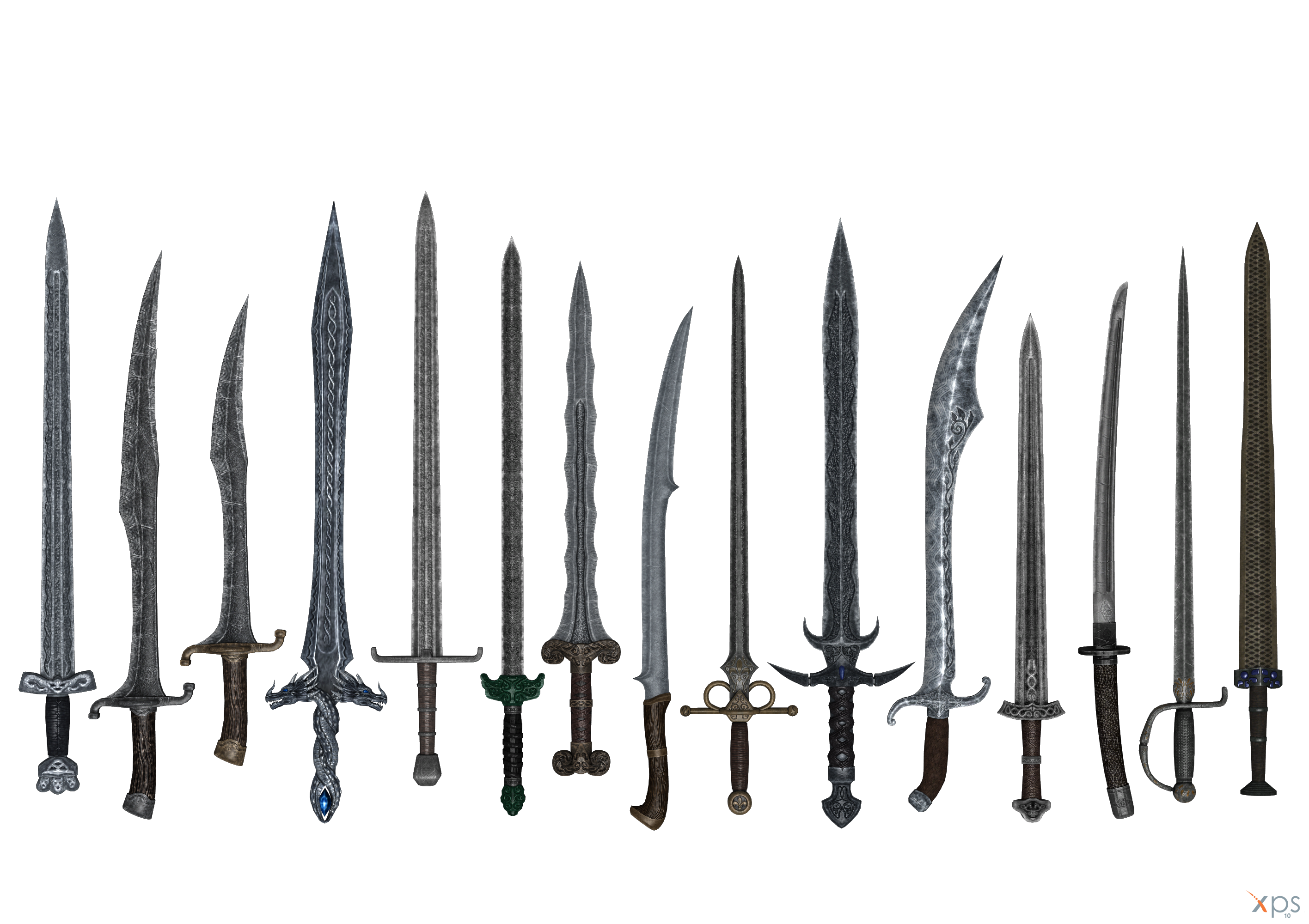Skyrim - JaySuS swords part 02 by Bringess