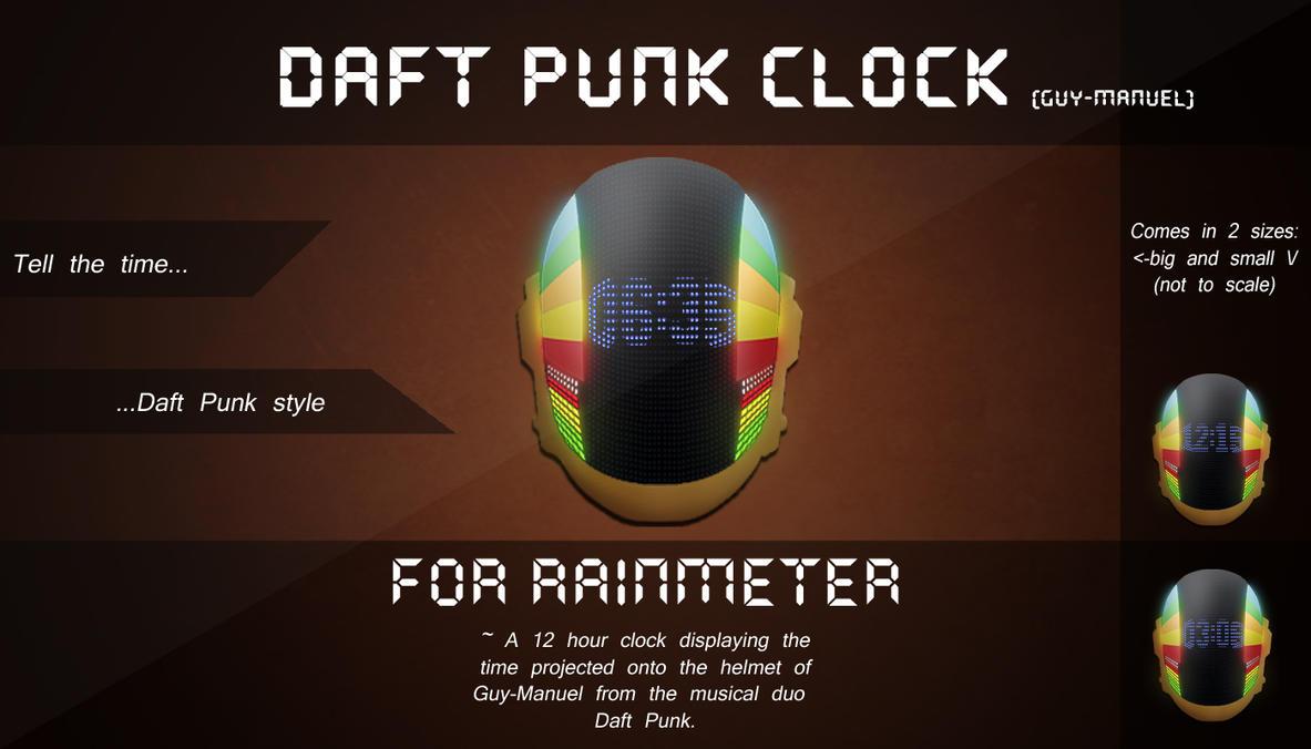 Rainmeter- Daft Punk Clock (Guy-Manuel) by H-Thomson