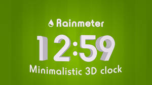 Rainmeter minimalistic 3D clock by H-Thomson