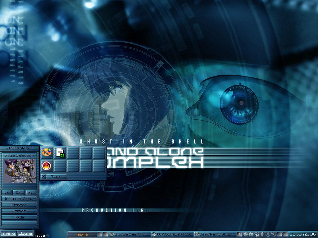 Ghost In The Shell Blue By Iamriki On Deviantart
