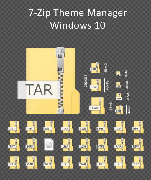 7-Zip Filetype Theme - Windows 10 by masamunecyrus on DeviantArt