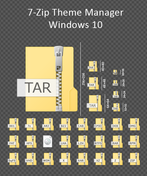 7 zip filetype theme windows 10 by masamunecyrus on for Window zip file