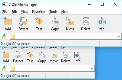 7-Zip Toolbar Theme - Office 2013 by masamunecyrus
