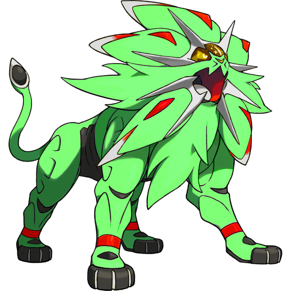 Shiny Solgaleo: 'Alchemic Lion' color concept by ... Green Lion Alchemy