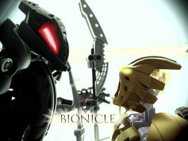 Bionicle MOC Teaser Poster 1: Shadow Meets Light