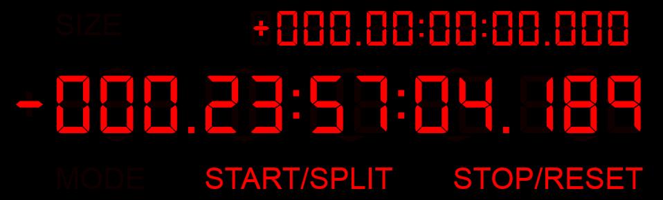 T-Minus: millisecond clock/timer : Rainmeter
