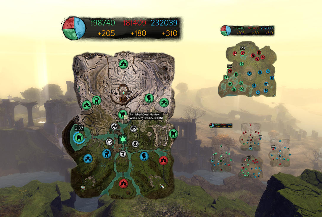 Guild Wars 2 World vs World Map Overlay by killall-q