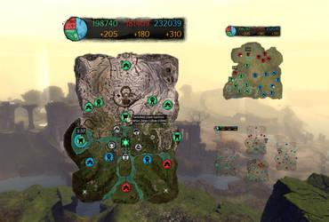 Guild Wars 2 World vs World Map Overlay