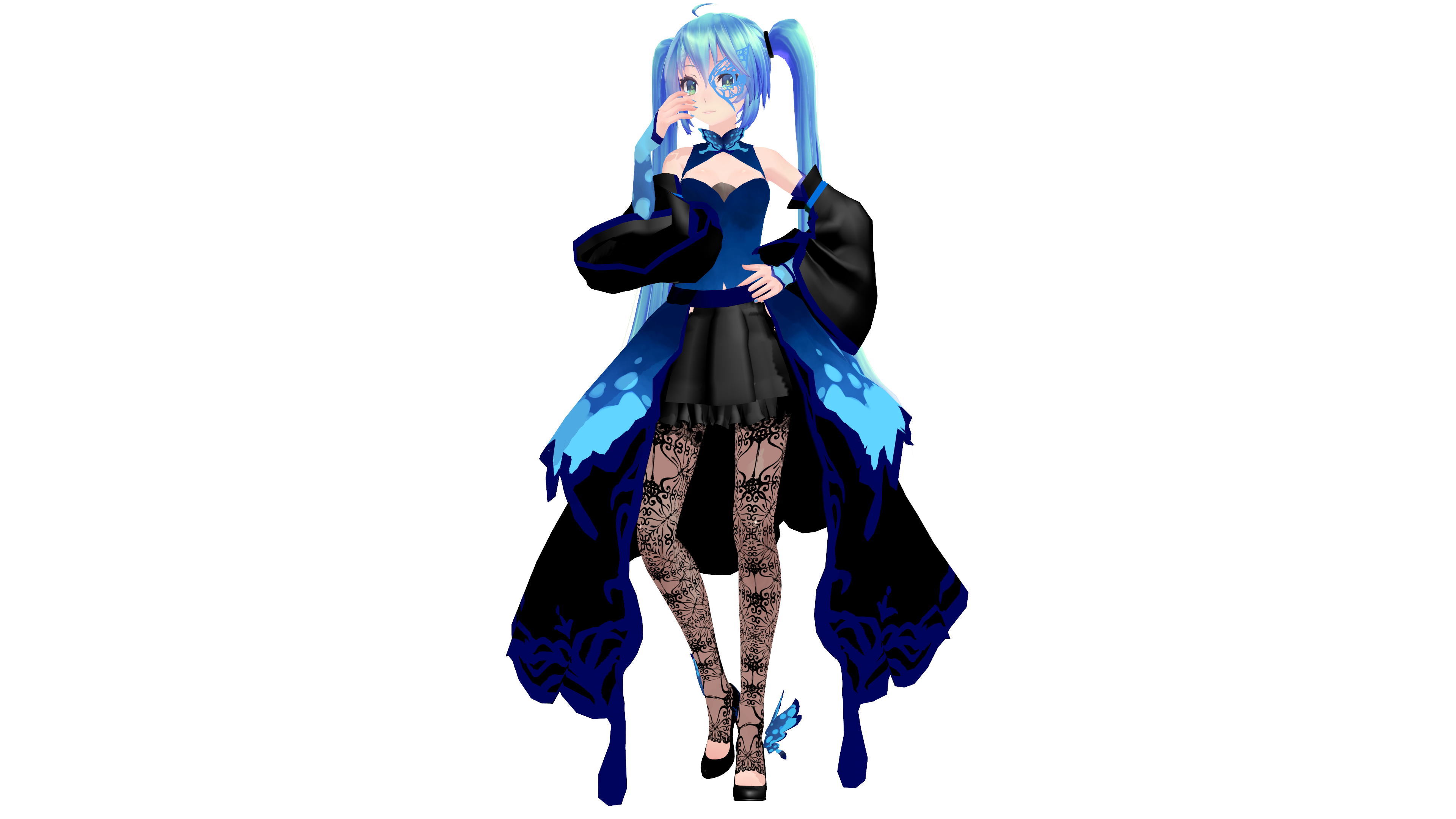 MMD Model Download: TDA Butterfly Dress Miku by K-Manoc1 on