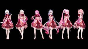 MMD Model Pack: TDA Spring China Lolita Models