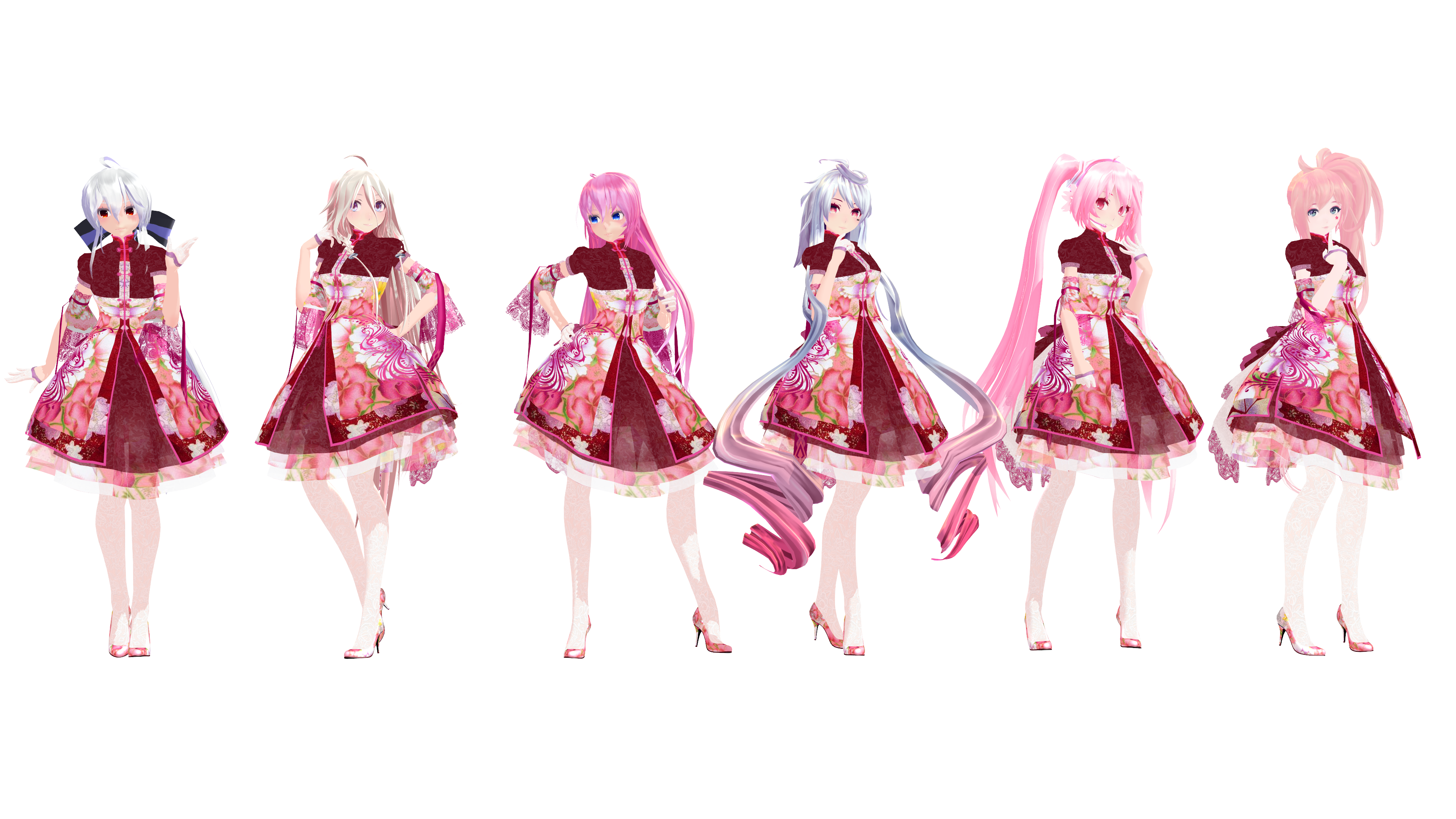 MMD Model Pack: TDA Spring China Lolita Models by K-Manoc1