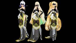 MMD: TDA Phantom Lady Haku, Mayu, and SeeU