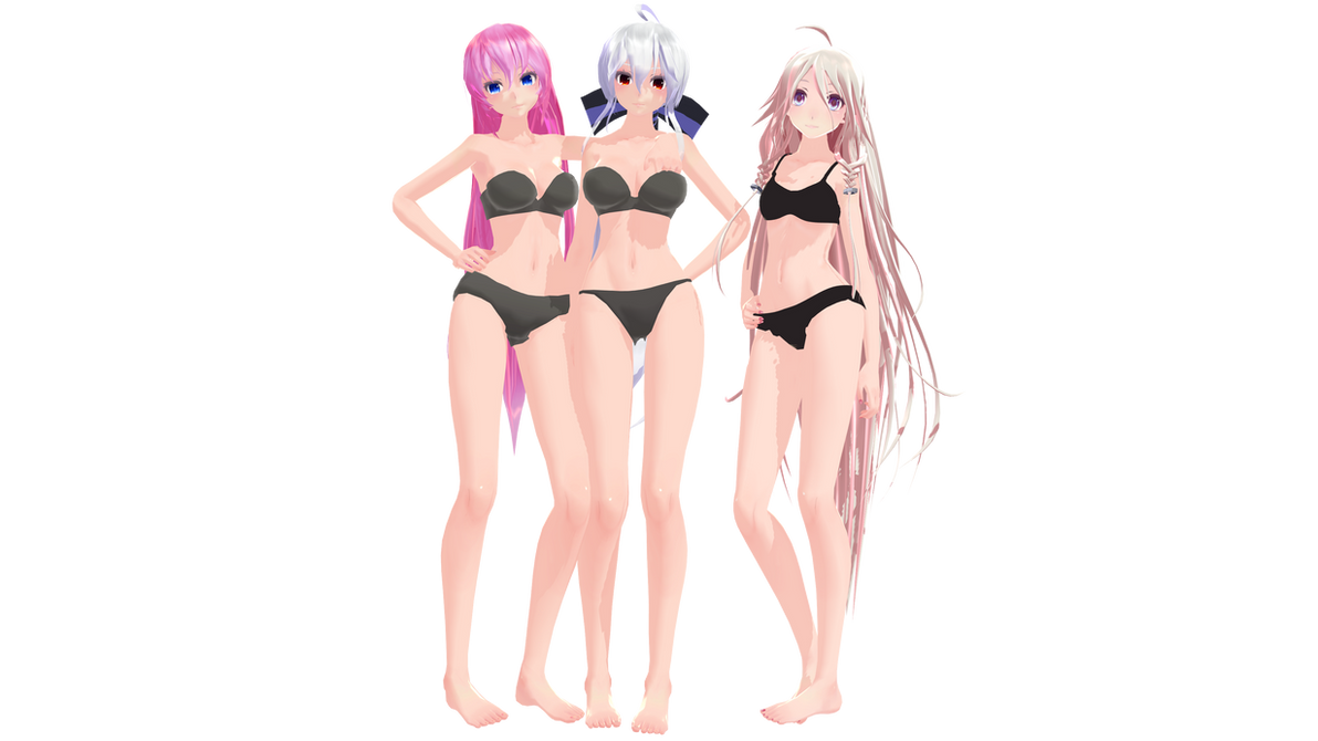 Bases - Female - With Hair on MMD-Mall - DeviantArt