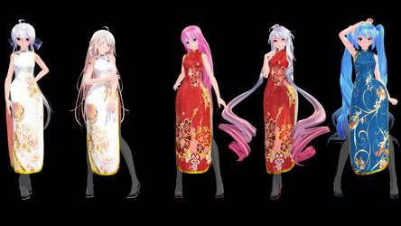 MMD Model Pack: TDA China Dress Models