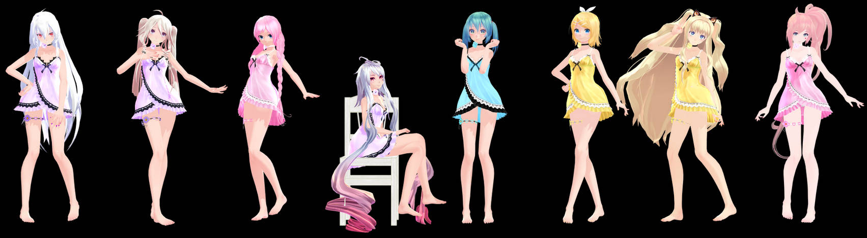 MMD Model Pack: TDA Baby Doll Models