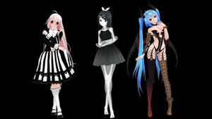 MMD Model Pack: TDA Halloween Models