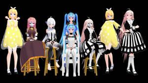 MMD Model Pack: TDA Robot and Doll Models