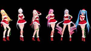 MMD Model Pack: TDA Christmas Models