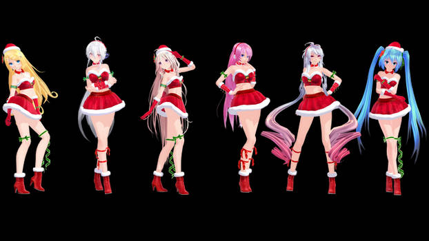 MMD Model Pack: TDA Christmas Models