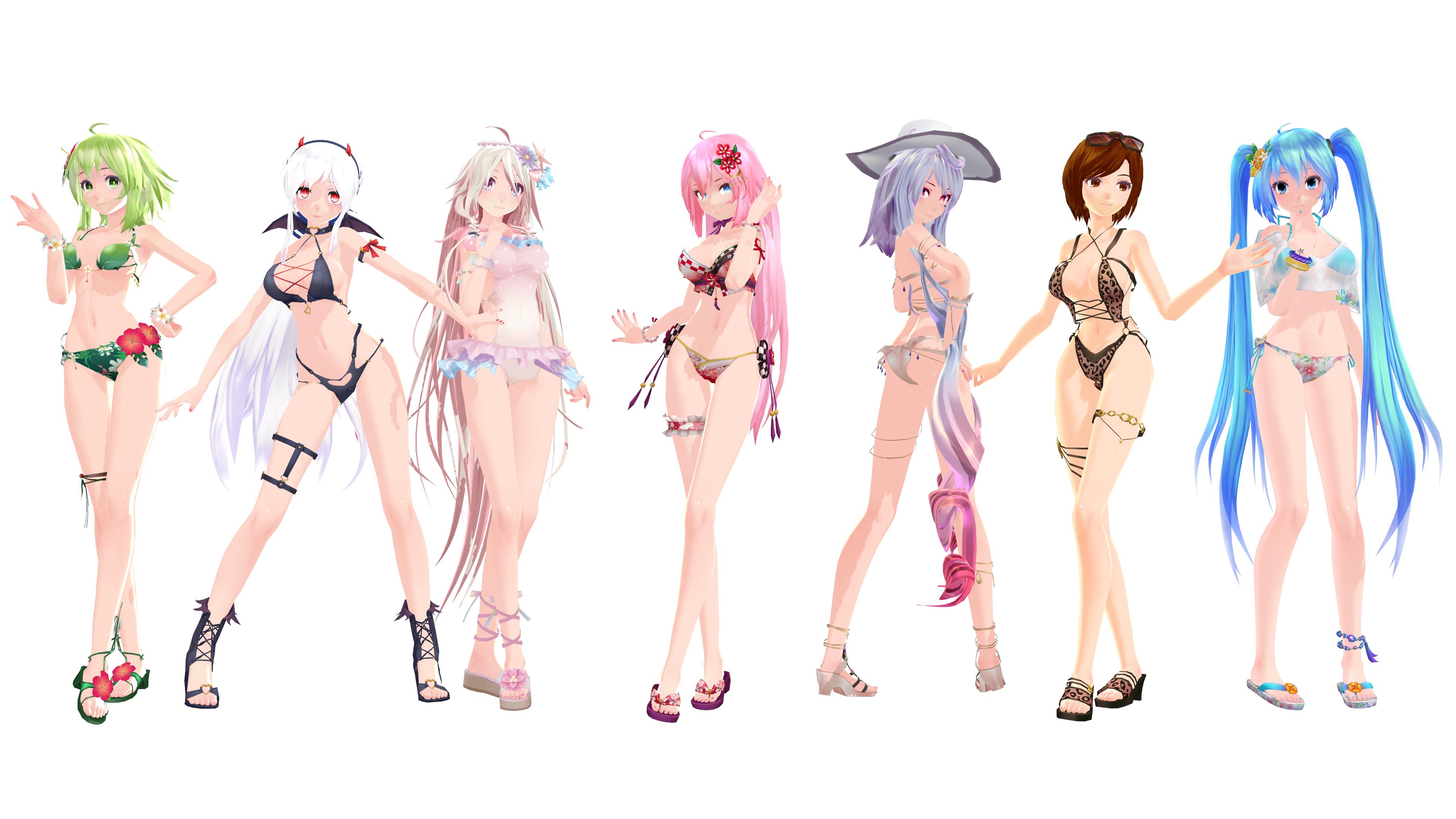 MMD Model Pack: TDA Summer Models
