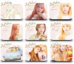 Red Velvet Ice Cream Cake Icons