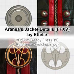 Aranea Highwind - Jacket Details by Ettelle