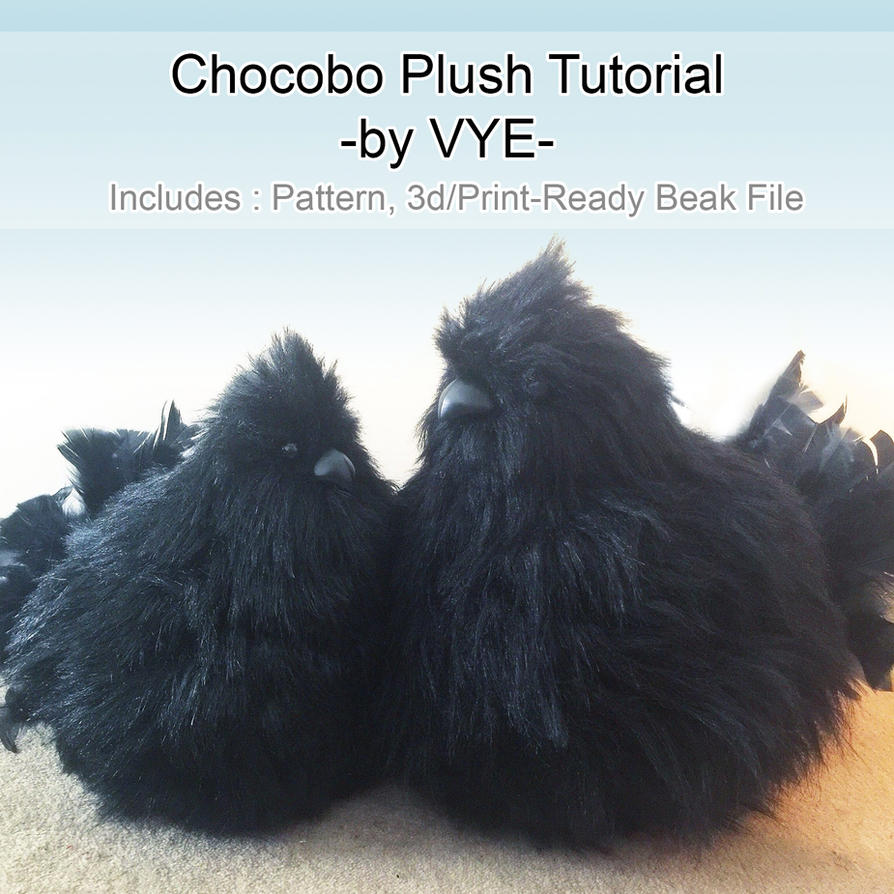 Chocobo Plush Resource/Tutorial (Final Fantasy) by Ettelle