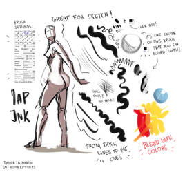 Custom Brush for Paint Tool SAI : Jap Ink by AtomicKitten13