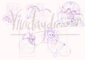 Mothcat and co holiday YCH (OPEN)