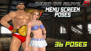 DOA5 Menu Screen Poses by IKeelYou457