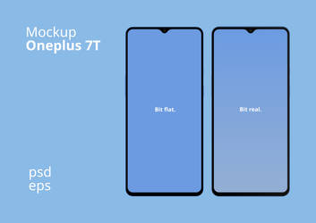 Oneplus 7t Front Mockup