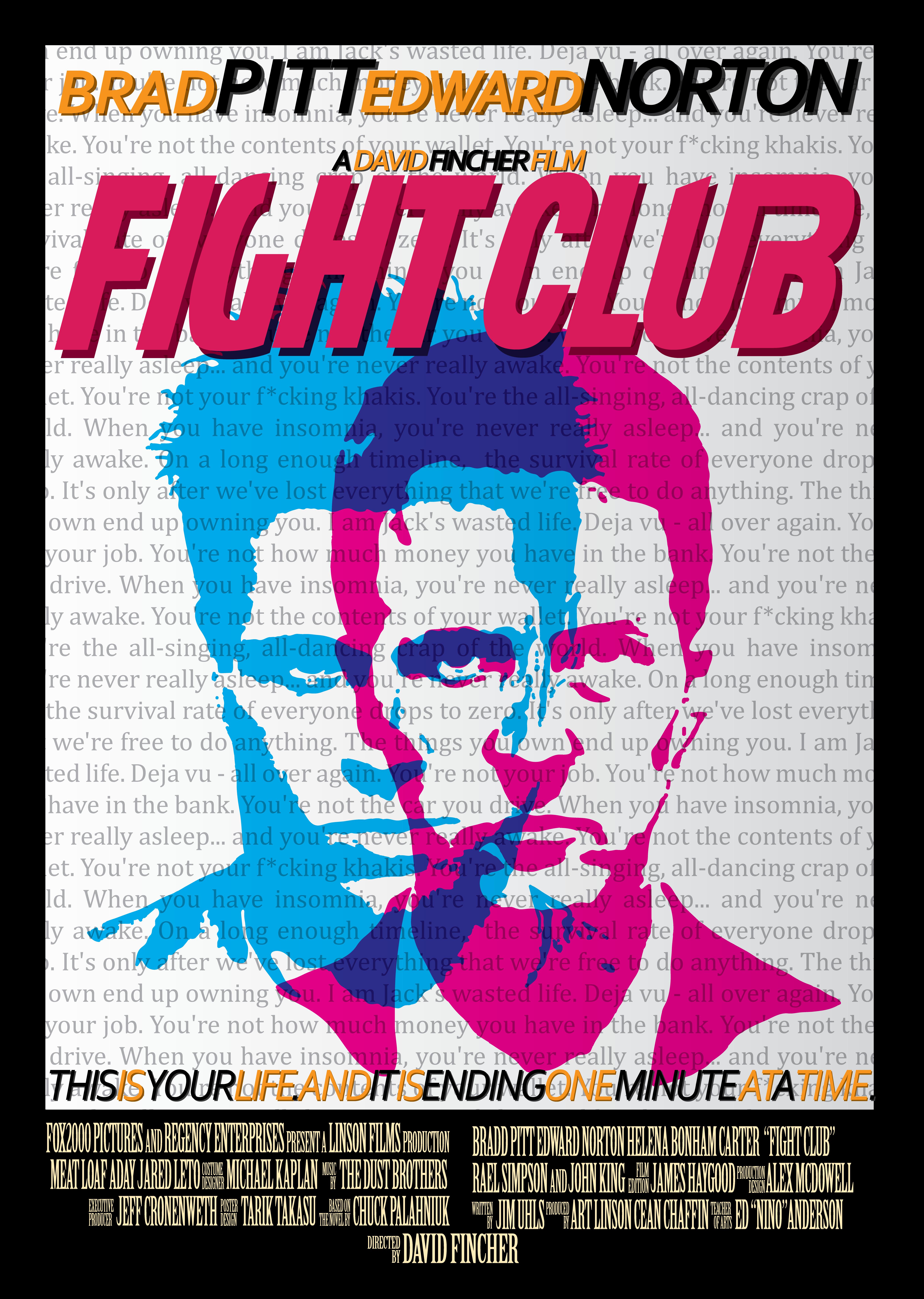 fight club fan poster by tariktakasu on deviantart. Black Bedroom Furniture Sets. Home Design Ideas